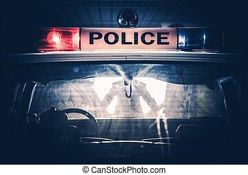 trafic, arrêt, croiseur, police