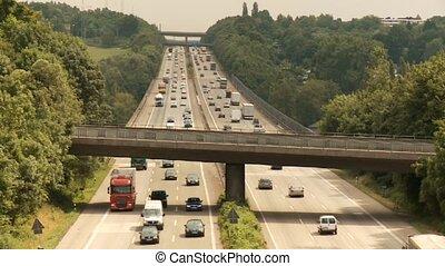 trafic, autoroute, /