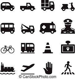 trafic, icône, ensemble, 2