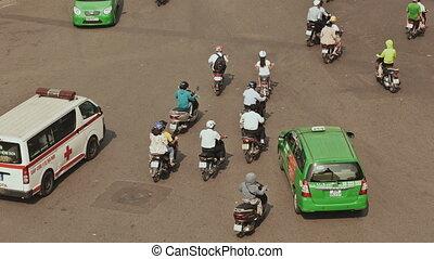 Trafic in Asia. Hanoi city. Vietnam. - Trafic in Asia Hanoi...