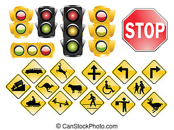 trafic, luzes, sinais