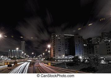 trafic, nuit