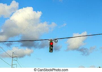 trafic, règlement, dans, amérique, à, feux circulation