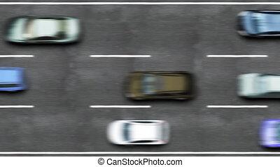 trafic, route, autoroute