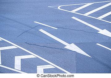 trafic, route, fond, signe