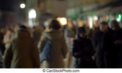 trafic, soir, gens rue