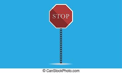 trafic, vecteur, arrêt, illustration, signe
