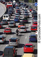 trafik, kø