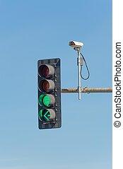 trafik, kamera video