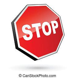 trafik, stoppskylten