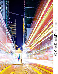 trafikljus, in, stad