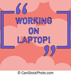 tragbar, farbe foto, laptop., zeichen, edv, gemacht, leer, reihen, arbeitende , pattern., seamless, text, begrifflich, kreise, ausstellung, ubergreifen, arbeit, wiederholung, leicht, bekommen, klein