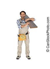 tragen, arbeiter, sperrholz