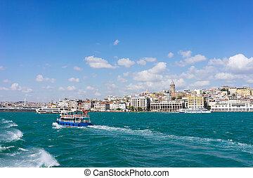 traghetto,  Istanbul, vista