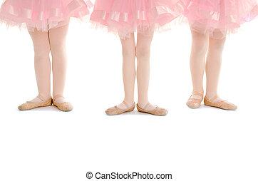 tragos, piernas, ballet, tutu, rosa, diminuto