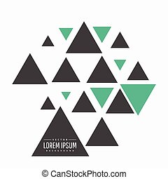traiangles, ベクトル, デザイン, 抽象的, 背景