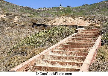 Trail at Point Loma National Park in San Diego.