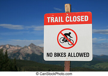 no bikes allowed sign