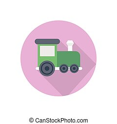 trail  flat color icon