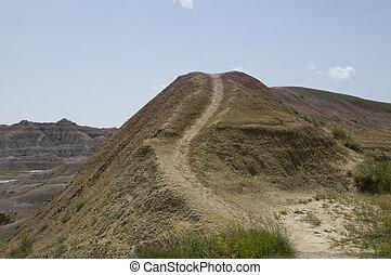 Trail in Badlands South Dakota