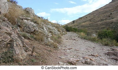 Trail in the mountains