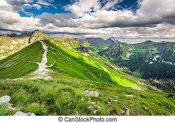 Trail in the Tatras Mountains, Poland, Europe