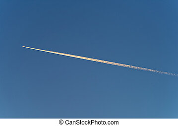 Trail of plane