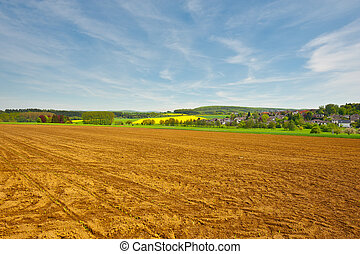 Plowed Field - Trail of Tread on the Plowed Field, Germany