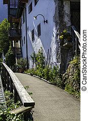 Trail Passing An Old House in Hallstatt