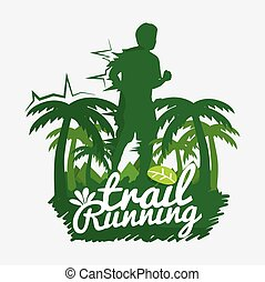 Trail Running Vector Illustration