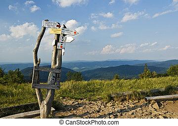 Trail signpost
