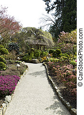 Trail to Hut in Japanese Garden