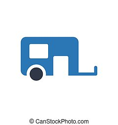 trailer  glyph color icon