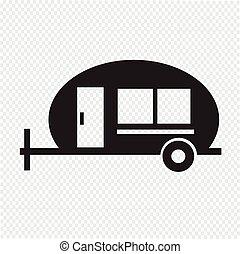 trailer , Recreation Vehicle Icon