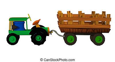 trailer traktor, stykke legetøj