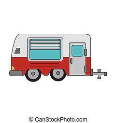 trailer truck cabine - trailer truck vehicle camping cabine...