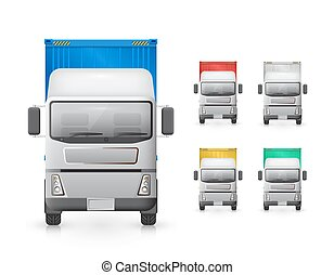 Trailer truck vector - Vector of trailer truck and cargo...