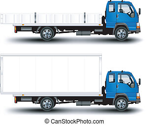 Trailer - Vector trailer, transports machine, isolated...