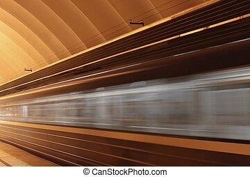 train, à, ternissure mouvement