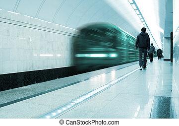 train, électrique, métro