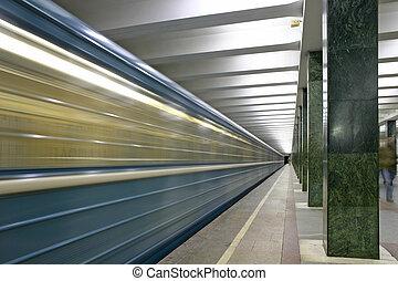 train., 駅, 地下鉄