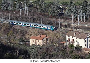 train aerial view