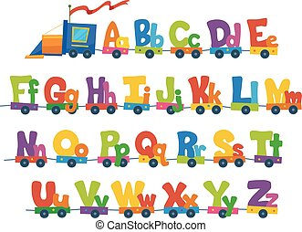 Train Alphabet Illustration