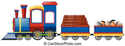 Train and two carraige carts