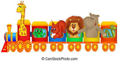 train, animaux