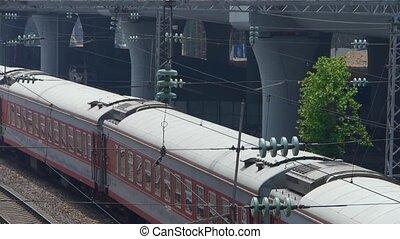 train, attente, viaduc, rail, &
