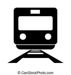 Train black color icon .