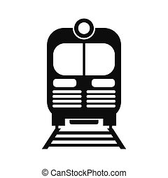 Train black simple icon