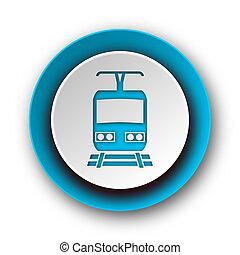 train blue modern web icon on white background