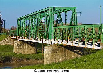 Train bridge on river Koros